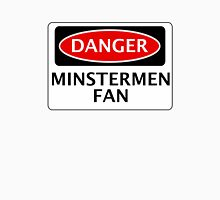 DANGER YORK CITY, MINSTERMEN FAN, FOOTBALL FUNNY FAKE SAFETY SIGN Men's Baseball ¾ T-Shirt
