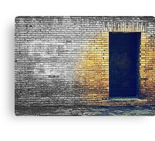 The old iron door Canvas Print