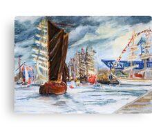 Arrival At The Hanse Sail Rostock Canvas Print