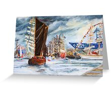 Arrival At The Hanse Sail Rostock Greeting Card