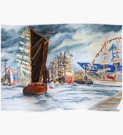 Arrival At The Hanse Sail Rostock Poster