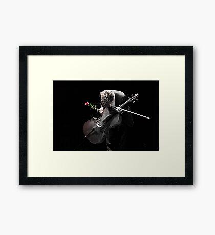 A Cellist's Curtain Bow Framed Print