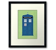 DOCTOR WHO. Framed Print