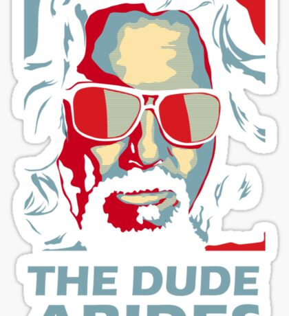 The Dude Abides Man Sticker