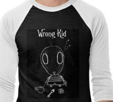Wrong Kid 01 - Black  Men's Baseball ¾ T-Shirt