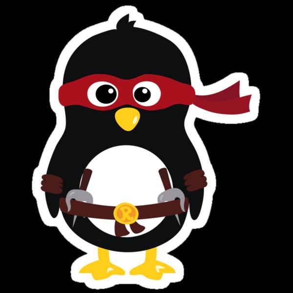 Penguin Ninja Raphaello by Arpsara