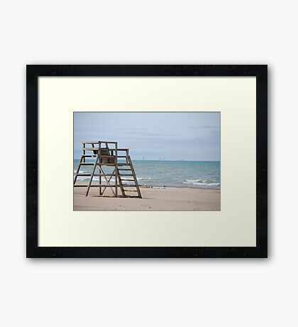 Michigan City Beach Framed Print