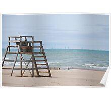 Michigan City Beach Poster
