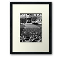 Crosswalk in Geneva, New York Framed Print