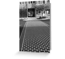 Crosswalk in Geneva, New York Greeting Card
