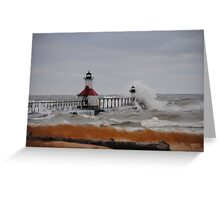 St Joseph North Pier Lighthouse - 24 Greeting Card