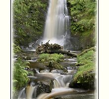 Pistyll Rhaeadr Waterfall in Summer by DavidWHughes