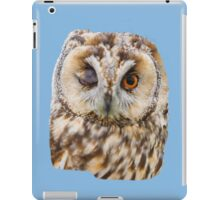 Winking Long Eared Owl iPad Case/Skin