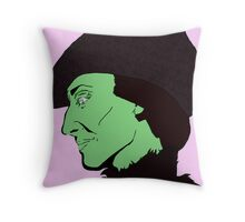 Profile of a Witch Throw Pillow