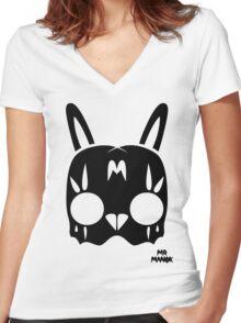 Acid Rabbit Women's Fitted V-Neck T-Shirt
