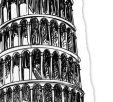 Torre di Pisa Sticker