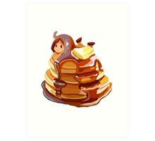Pancake girl Art Print