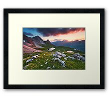 Alpine Sunset Framed Print