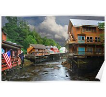 Ketchikan Alaska River Walk Poster
