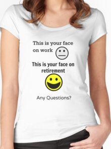 Retired Face Women's Fitted Scoop T-Shirt