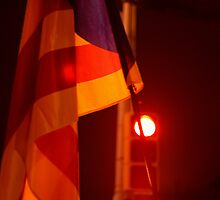 The Catalan Flag at night by Jeroen van Ommen