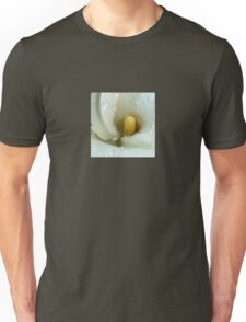 Beautiful Calla Lily Flower Macro with Morning Dew Unisex T-Shirt