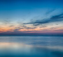Blue Hour Over a Metallic Sea by Nigel Jones