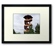 Lookout Tower from Cox Arboretum Framed Print