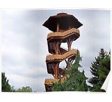 Lookout Tower from Cox Arboretum Poster