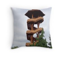 Lookout Tower from Cox Arboretum Throw Pillow