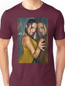 Reflection -Beautiful girl wet in shower wearing clothes  Unisex T-Shirt