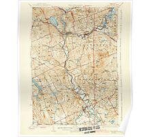 USGS TOPO Map New Hampshire NH Penacook 460062 1927 62500 Poster