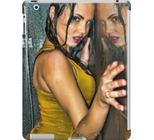 Reflection -Beautiful girl wet in shower wearing clothes  iPad Case/Skin