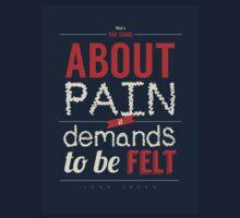 Pain Demands to Be Felt by Sam Matthews