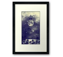 One Day I Fell from My Moon Cottage... Framed Print