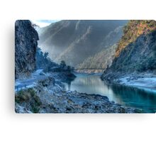 Devpryag At Misty Sunrise Canvas Print