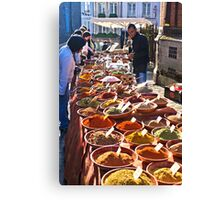 Spice seller Canvas Print