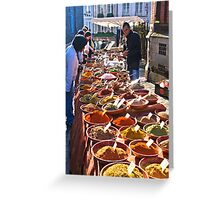 Spice seller Greeting Card
