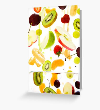 Healthy Fruit Greeting Card