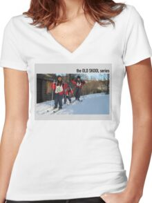 easter race Women's Fitted V-Neck T-Shirt