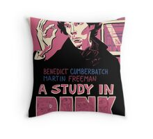 Vintage Poster - A Study In Pink Throw Pillow
