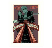 Vintage Poster - The Blind Banker Art Print