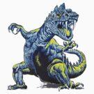 Old Blue Dinosaur by sashakeen