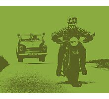 Cop Chase Photographic Print