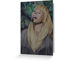 The beautiful and talented Grace Potter Greeting Card