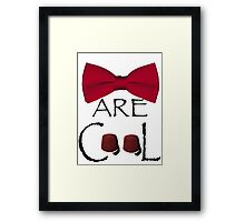 Bowties are cool – Doctor who Framed Print