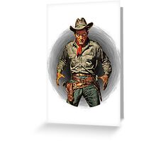 Classic Gunslinger Greeting Card