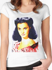 Vivien Leigh in Gone with the Wind Women's Fitted Scoop T-Shirt