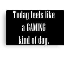 Game All Day Canvas Print