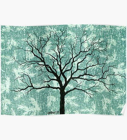TREE ON DESIGN PAPER Poster